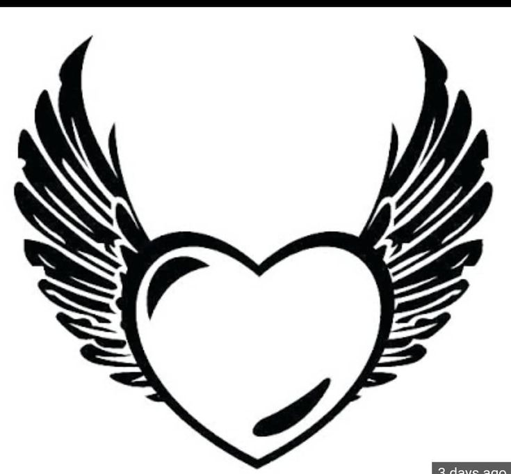 heart with wings coloring page free printable coloring pages - 514×480