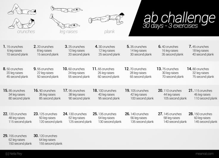 Ab Challenge  30 days - 3 exercises. Starting this today. (June 20th) as well as the squat challenge
