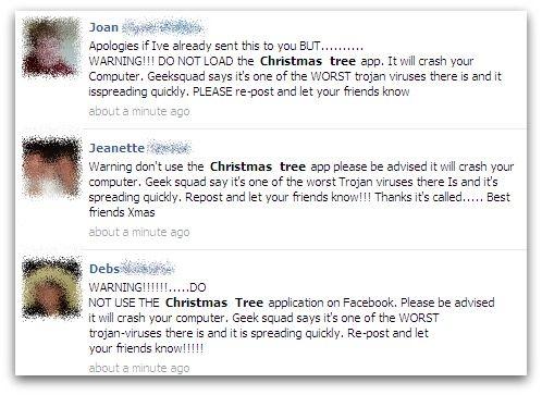Facebook: l'albero di Natale che blocca il PC è una bufala