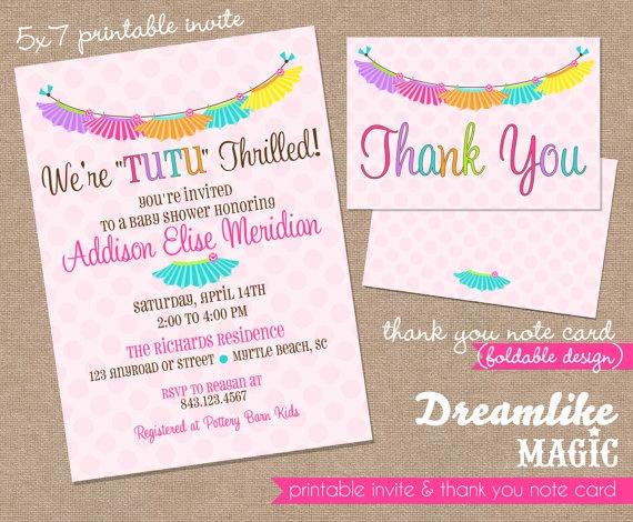 tutu thrilled baby shower invite baby girl shower tutu cute colorful rainbow baby shower invite diy printable baby girls twins