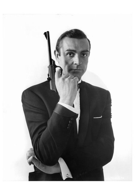 """Sean Connery in the classic James Bond pose - """"From Russia With Love"""" - 1963"""