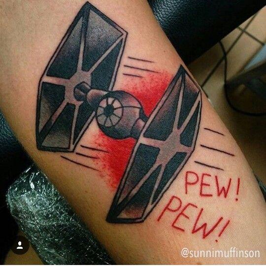 Tie fighter star wars tattoo by @sunnimuffinson