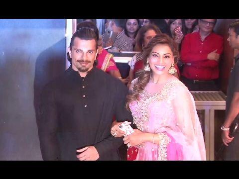Karan Singh Grover & Bipasha Basu At Neil Nitin Mukesh & Rukmini Sahay's Grand Wedding Reception.