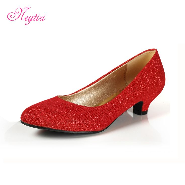 Red Weding Shoes Low Hel 014 - Red Weding Shoes Low Hel
