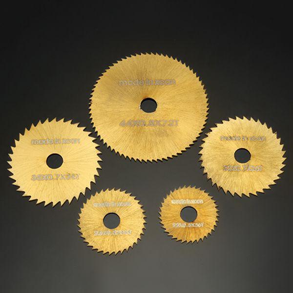 Drillpro SW-B2 6pcs HSS Kreissägeblätter Set Titanium beschichtete Sägeblätter für Dremel Rotationswerkzeuge