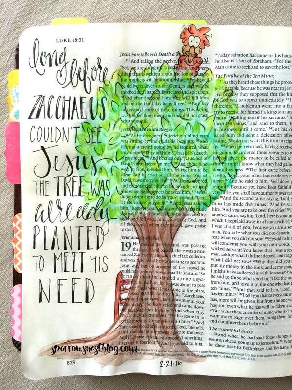 Luke 19 - Long before Zacchaeus could see Jesus