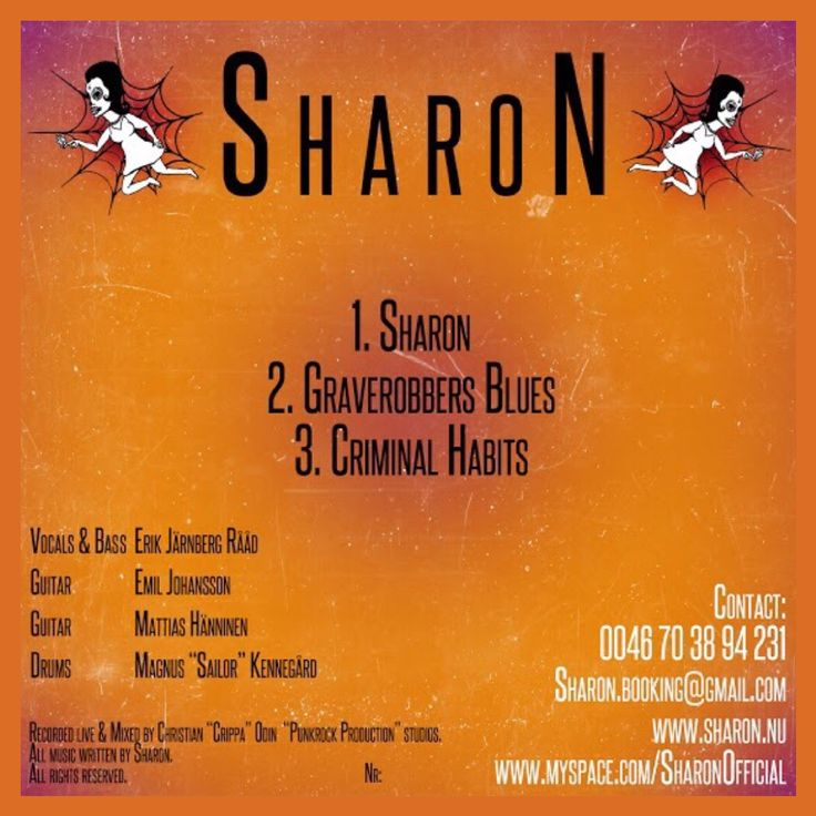 "Back Albumcover for ""Sharon - S/T (Sharon)"" released in 2012. #sharon #criminalhabits #graverobbersblues #sharontate"