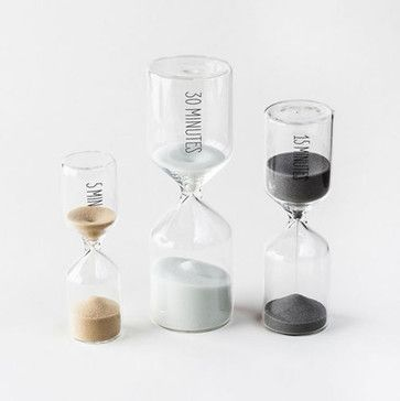 Hourglass Kitchen Timers - Set of 3 - contemporary - Kitchen Tools - Dot & Bo