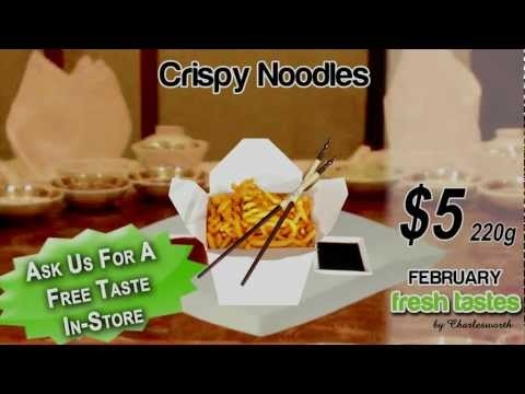 Crispy Noodles - Charlesworth Nuts' February Fresh Taste Product
