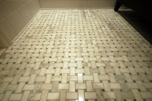 Basketweave Tile Floor New House Ideas Pinterest Tile Baskets