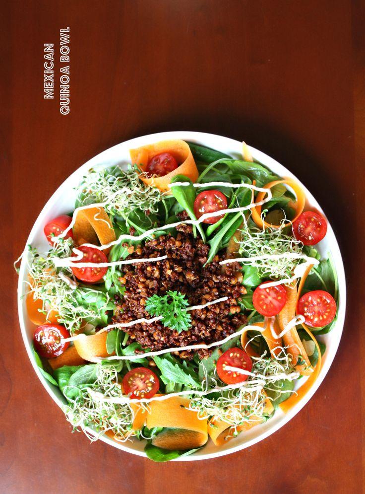 """Quinoa à la mexicaine & légumes colorés // Quinoa """"meat"""" with raw veggies - PIMP ME GREEN"""