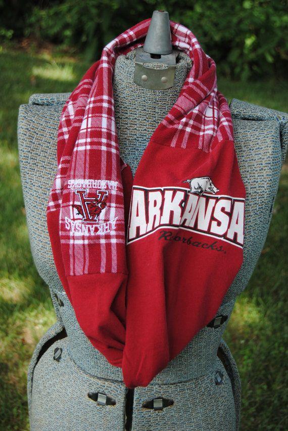 Arkansas Razorbacks Upcycled TShirt Infinity by SeasonedWithStyle, $12.00