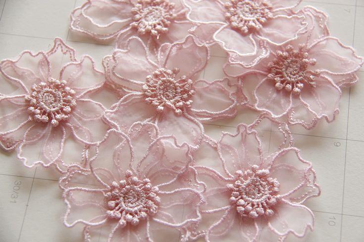 20 Шт./лот 7 см 3D Handmade Цветочные Головные Уборы Для Свадьбы Платье Топы…