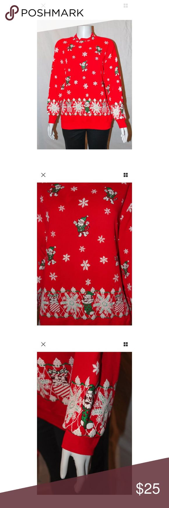 Red Cats Ugly Christmas Sweater ***All best reasonable offers accepted!***Black pants in photographs are for display purposes only and are not included in the sale.  Details: This sweater is perfect for cat lovers, holiday lovers, for the office holiday party, or the ugly sweater Christmas party.Materials and Care Instructions:UnknownMeasurementsLength: 26 Inches (Bottom of neck to bottom of shirt)Bust: 45 Inches (Across the torso armpit to armpit doubled) Sleeve: 27 Inches…