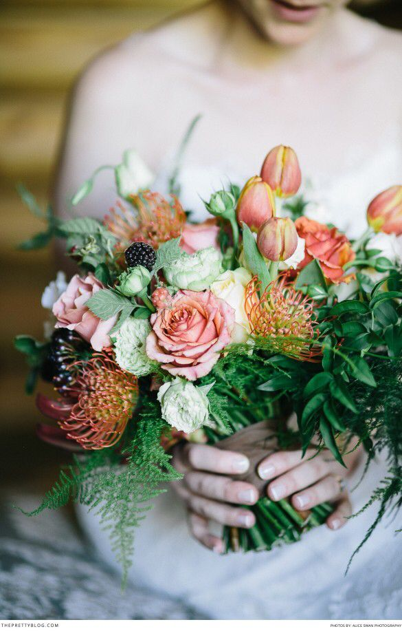 Pincushions, roses & tulips