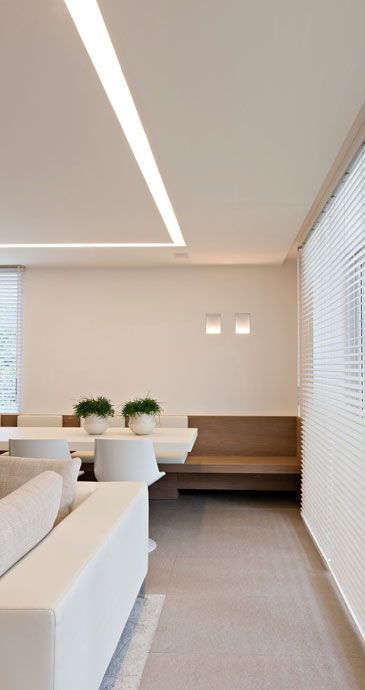 Built In Ceiling Lights: BUILT IN SEATING | Image Credit: interieurarchitect Frederic Kielemoes.  When floor space real. Clean LightingLinear LightingRecessed LightingCeiling  ...,Lighting