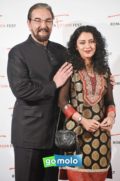 Kabir Bedi & Parveen Dusanj at the 9th Roma Fiction Fest at Adriano Cinema in Rome