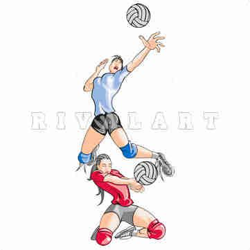 Sports Clipart Image of Volleyball Players http://www.rivalart.com/cart/pc/viewCategories.asp?idCategory=33&opid=5