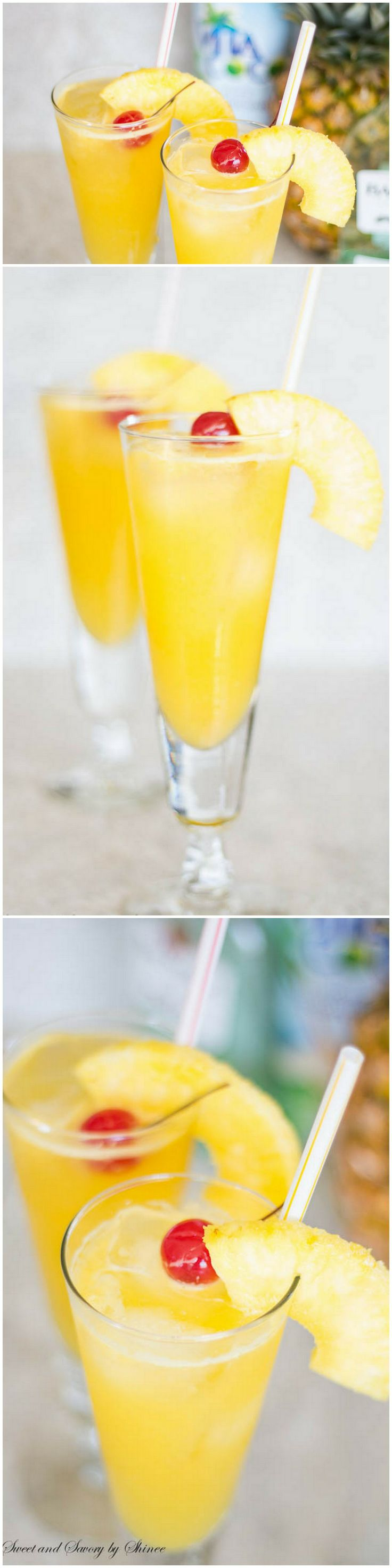 Bubbly, fruity, tropical, this pineapple coconut spritzer is a naturally sweetened thirst-quencher and party-pleaser. ~Sweet and Savory by Shinee