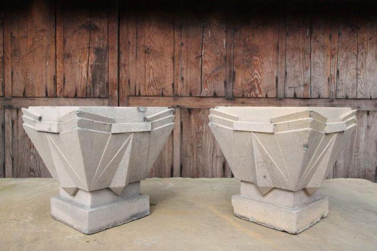 Antiques Atlas   Pair Of Art Deco LEFCO Antique Garden Urns.