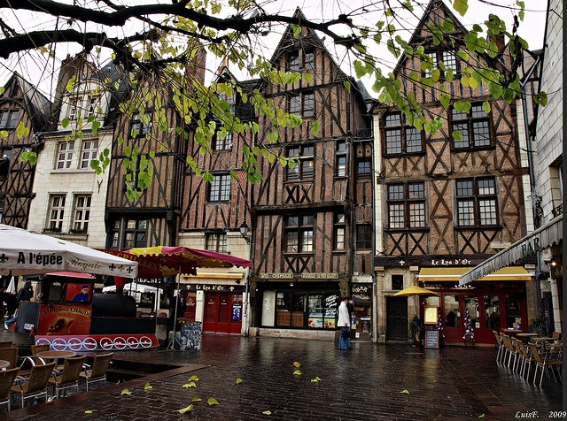 Tours, France.  I studied abroad here in 2007 and I'm going again in March.  Studying abroad opened my eyes to the enormous world around us!