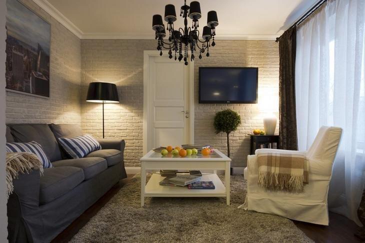 Фотография: Гостиная в стиле Эклектика, Современный, Малогабаритная квартира, Квартира, Дома и квартиры – фото на InMyRoom.ru