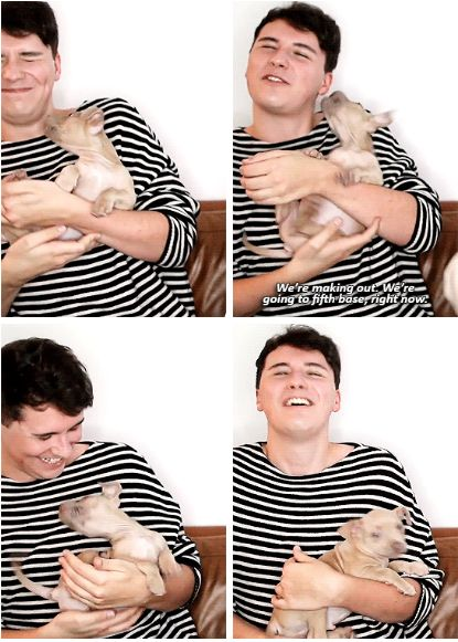 GIF SET: Catrific's video Dan and Phil Play with My New Puppy!!!