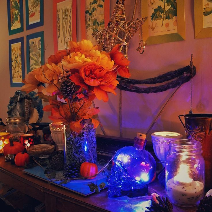 A blessed Samhain to you! We're burning candles for ancestors, beloved dead, and sipping Samhain tea