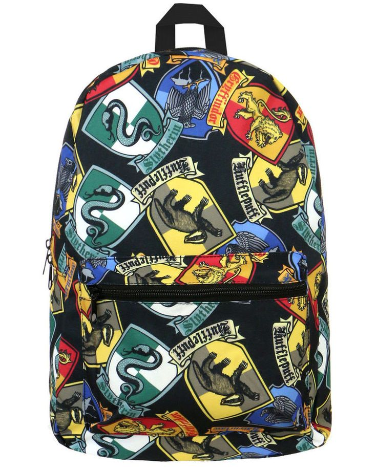 Scholastic+Teen+Wizard+Accessories+-+This+Harry+Potter+Backpack+Features+Hogwarts+House+Crests+