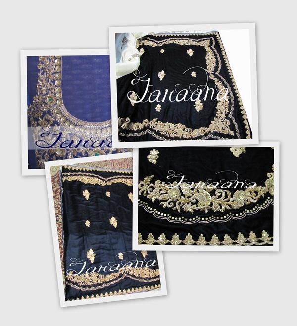 Bollywood replica saree in high quality zardozi hand