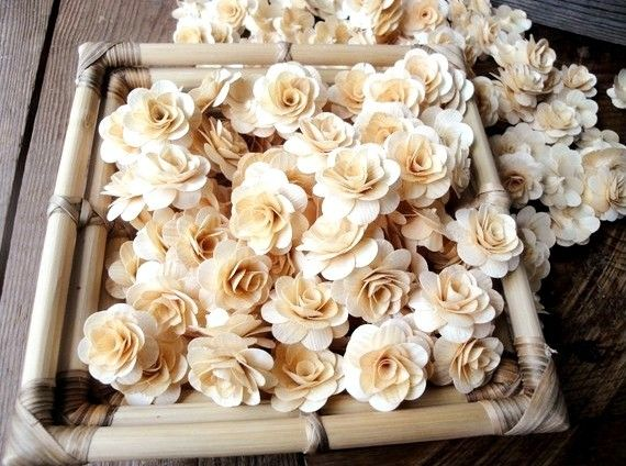 birchwood shavings crafted flowers