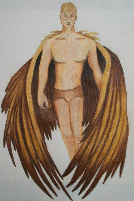 Pencil Drawing, Archangel, by Christopher Webb