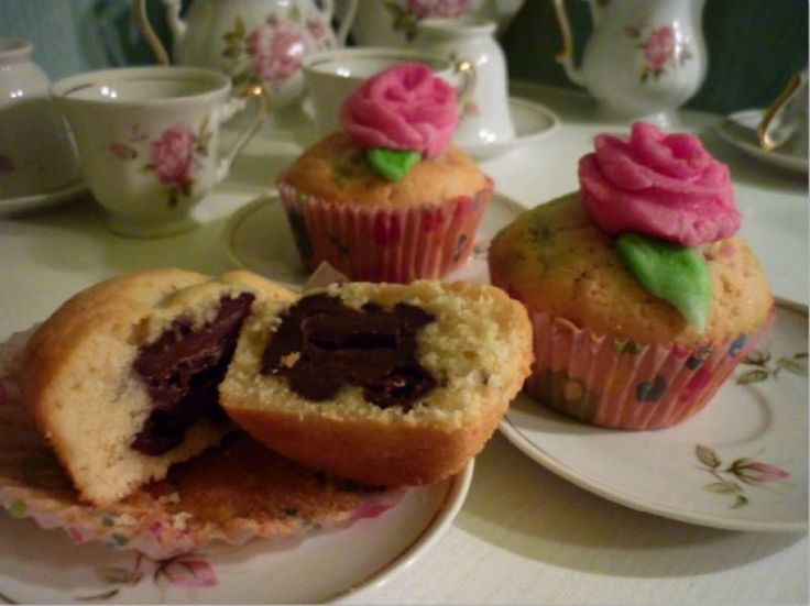 Töltött pudingos muffin