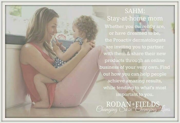 The best option for Stay At Home Moms... cloyer.randfskincare@gmail.com