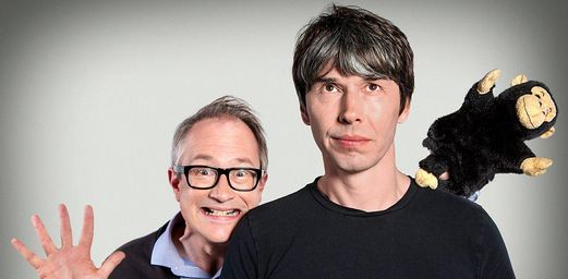 """Brian Cox and Robin Ince, co-hosts of """"The Infinite Monkey Cage"""" on BBC4."""