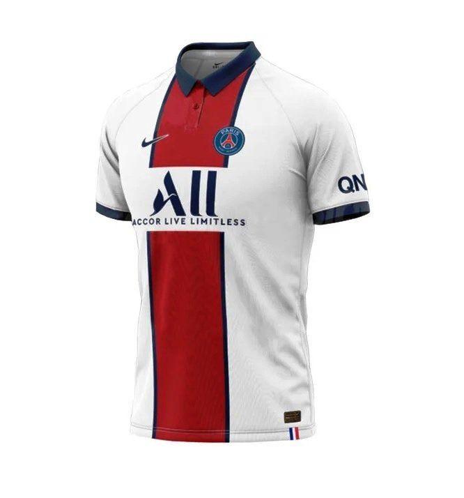 Psg 2020 2021 Away Soccer Jersey Paris Saint Germain White In 2020 Paris Saint Germain Soccer Jersey Psg