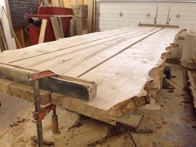 Live edge table glue-up