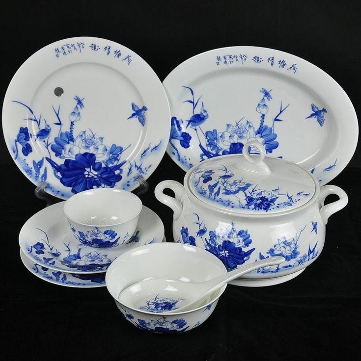 Jingdezhen bone China tableware sets quality best selling 56 premium-Home Tableware set Lotus pond & 24 best Dinnerware images on Pinterest | Dinner ware Cutlery and ...
