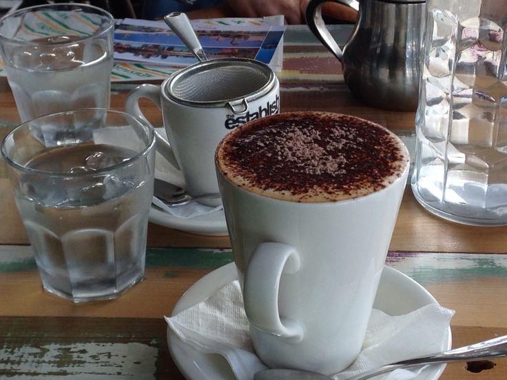 Cappuccino! ︎Cinnamon flavor is delicious!