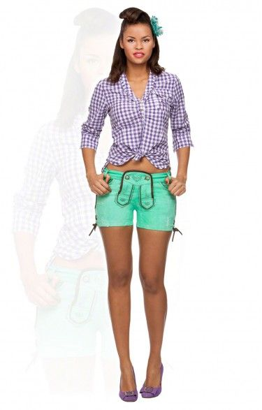 Traditional shorts Roxy green river