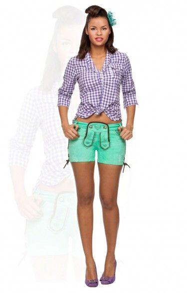 Traditional shorts Roxy green river