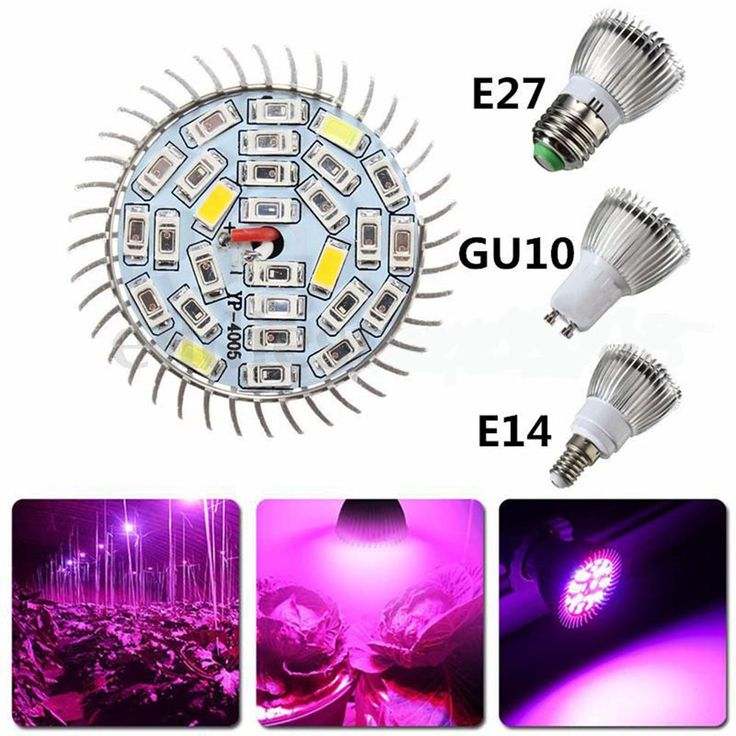 28W Led Grow Light Full Spectrum E27/GU10/E14 Led Plant Lamp  AC85-265V Red+Blue+White+UV+IR Indoor Greenhouse Grow Lamp