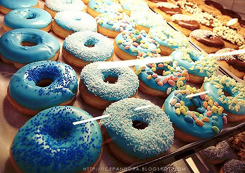 A blue donut is a good donut. Just like (insert ANY type of donut here) is also a good donut