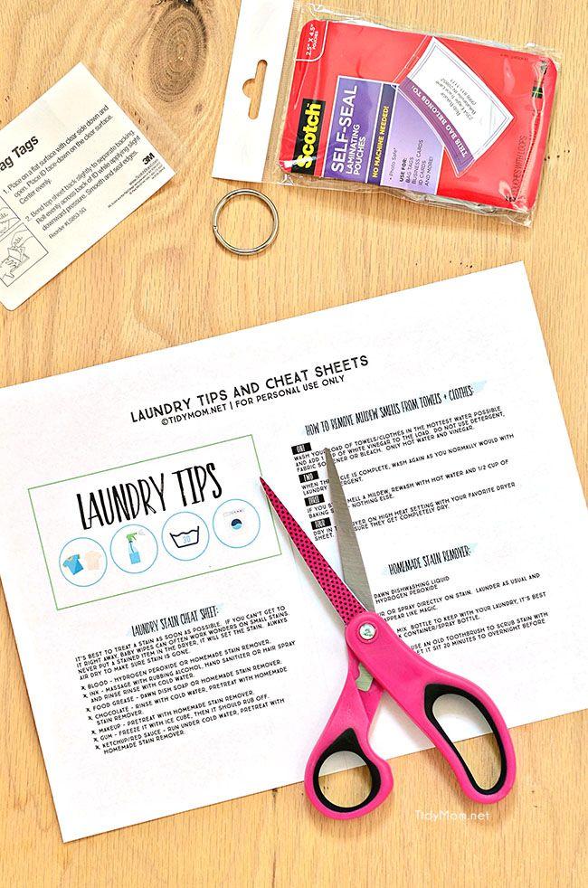 Printable Laundry Tips Laminated Flip Book Laundry Hacks Laundry Tips