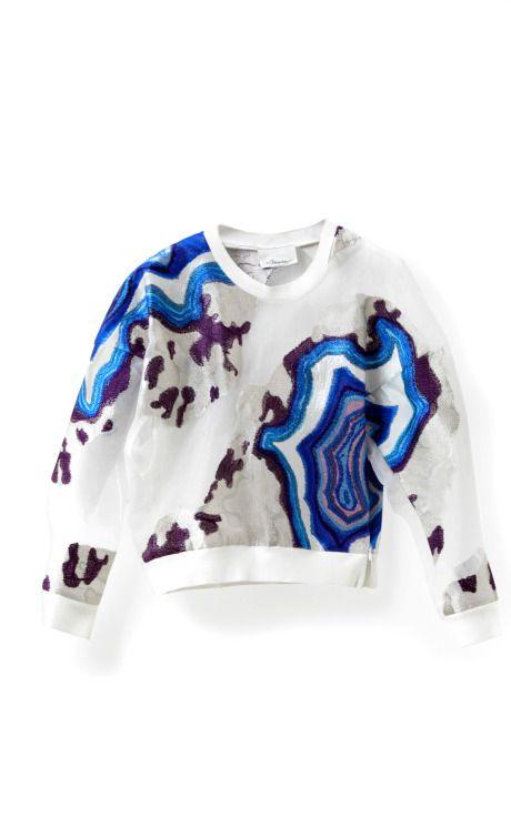 Geode Embroidered Sweatshirt by 3.1 Phillip Lim for Preorder on Moda Operandi