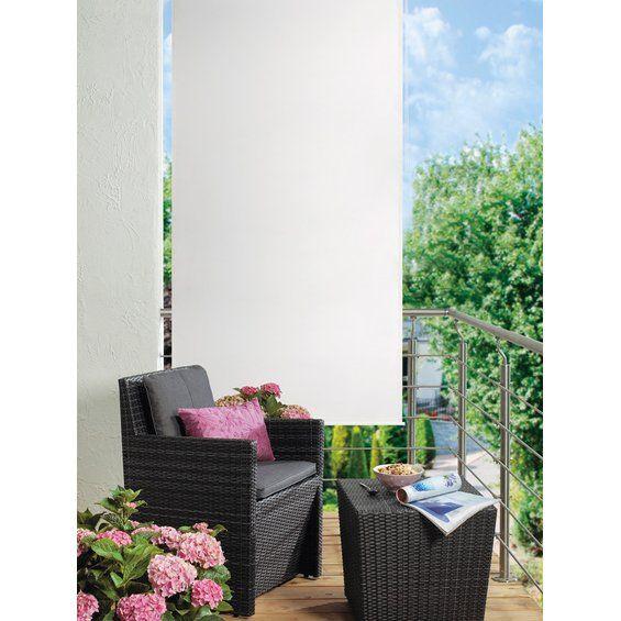 Senkrecht-Sonnensegel mit Seitenzug 2,5 m x 1,4 m Elfenbein kaufen bei OBI