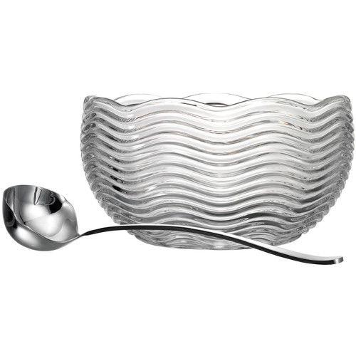 godinger capri crystal punch bowl with ladle ovrfl oth