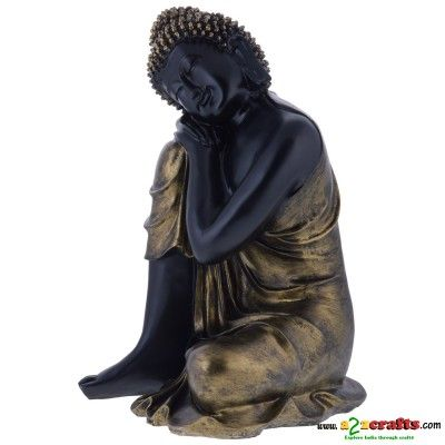 Fiber craft - Buddha , sitting big - Rs. 2,399 - Hand Made Crafts - Buy & Sell Indian Handmade Crafts and Handmade terracotta, dokra Jewelry and Gifts