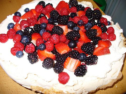 The Pavlova is a much celebrated Australian creation… Or is it? This delicate desert is part of a great debate between Australians and New Zealanders who both lay claim to its invention. The Pavlova is New Zealand's national dessert. The Pavlova is a meringue shell with a marshmallowy center. It is topped with whipped cream and fruit. The Pavlova was aptly named after Russian prima ballerina, Anna Pavlova, who visited New Zealand in 1926 and Australia in 1929.
