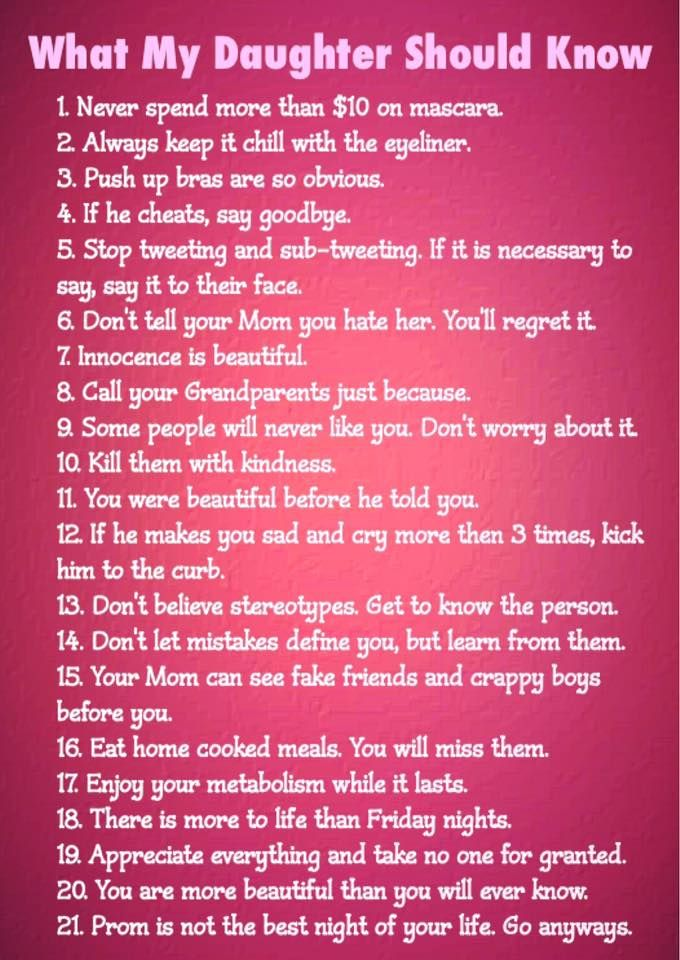 """What """"every"""" Daughter should know and try to pass down to their daughters. I wish I had known this too =) #daughters #life #lessons"""